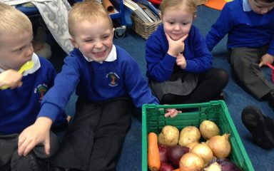 Nursery explores fruit and vegetable delights!