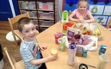 Reception enjoy being smooth and healthy!