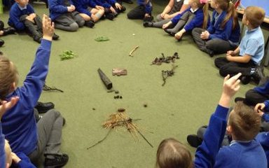 Year 2 go outdoors, to search for 'monster clues!'