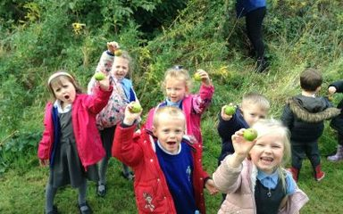 Reception visit our 'Forest School!'