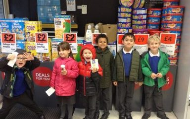 Year 1 head off to the shops…