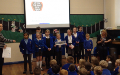 School Parliament 'take over' assemblies!