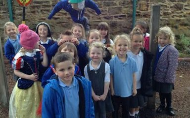Reception enjoy a 'Scarecrow's Wedding!'