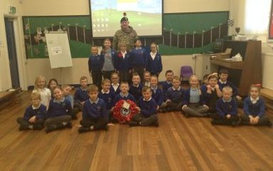 The army visits West Lane for Armistice Day!