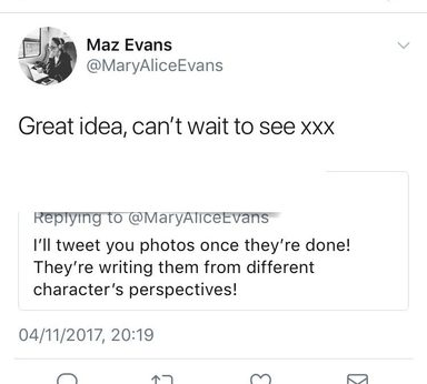 Year 5 'tweets' the famous Maz Evans!