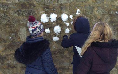 Year 6 enjoy some 'snowy maths!'
