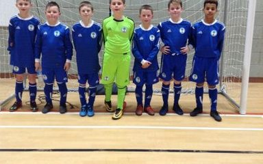 Blaydon & District Football players 'score' second place!