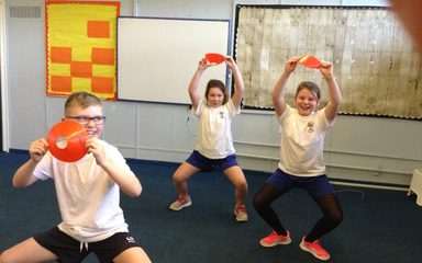 Year 5 condition their muscles!