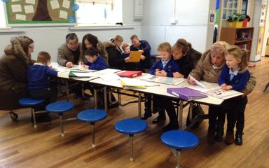 Reception enjoy sharing their learning – 'Journal session.'