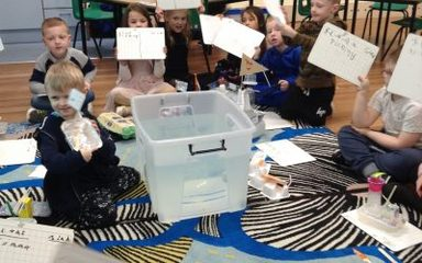 Year 1 test their boats and sail away with Columbus!