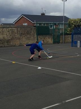 Year 6 develop their hockey skills… | Winlaton West Lane