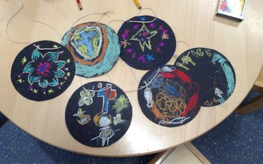 'Noah's Art Club' show off their religious art!
