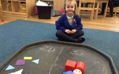 Reception become experts at shapes!