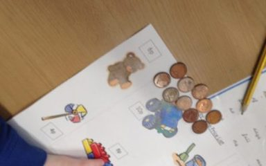 Year 1 Chestnut tackle money!
