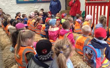 Reception (and Nursery) head down to the farm…