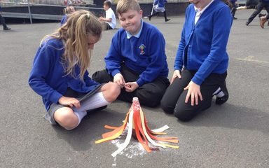 Exciting eruptions in Year 5!