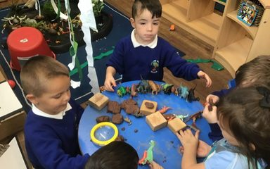 Reception erupt with the dinosaurs!