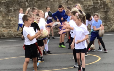 Year 4 'tag' their way to terrific rugby playing!