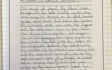 Year 5 extend 'The Titanic' narrative!
