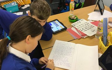 Year 6 enjoy peer editing!